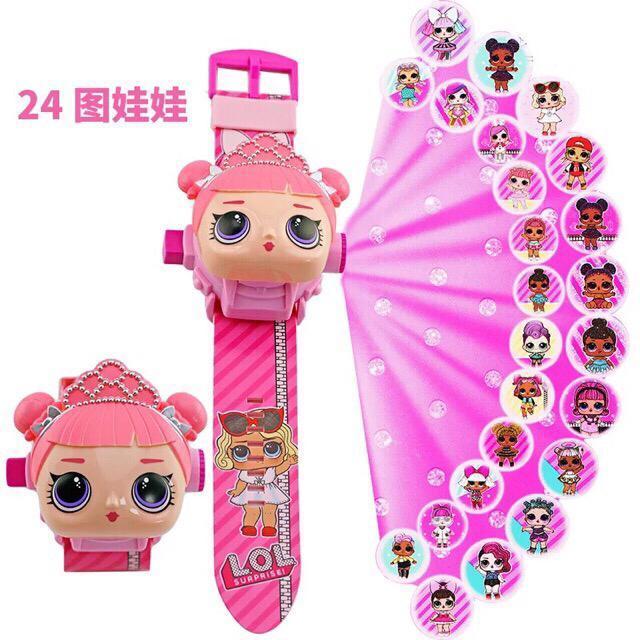 [1030040203] Lol Surprise Proyektor Digital Jam Tangan Anak Perempuan - Pink By Tokobig