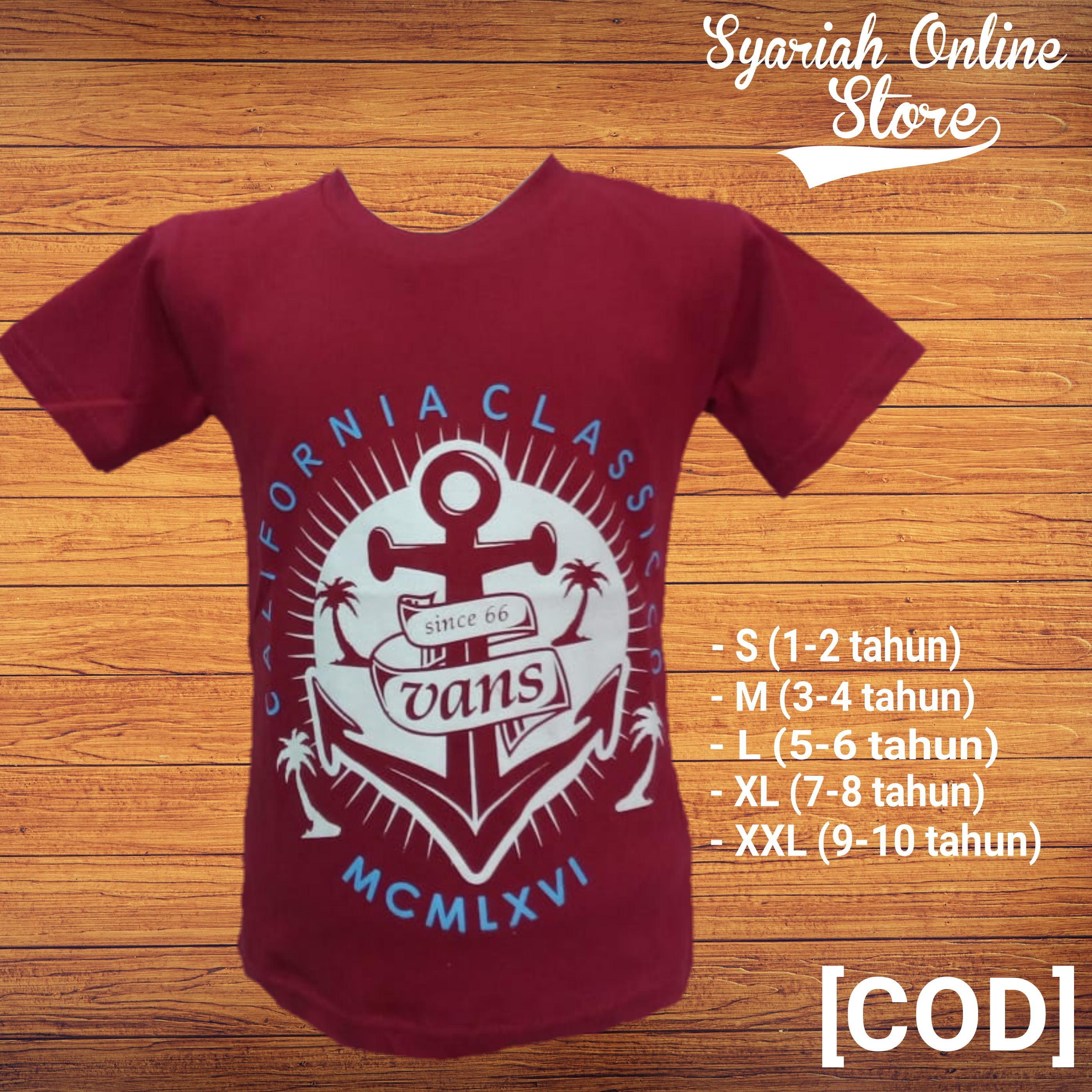 Kaos/baju Anak Motif Distro Jangkar By Syariah Online Store.