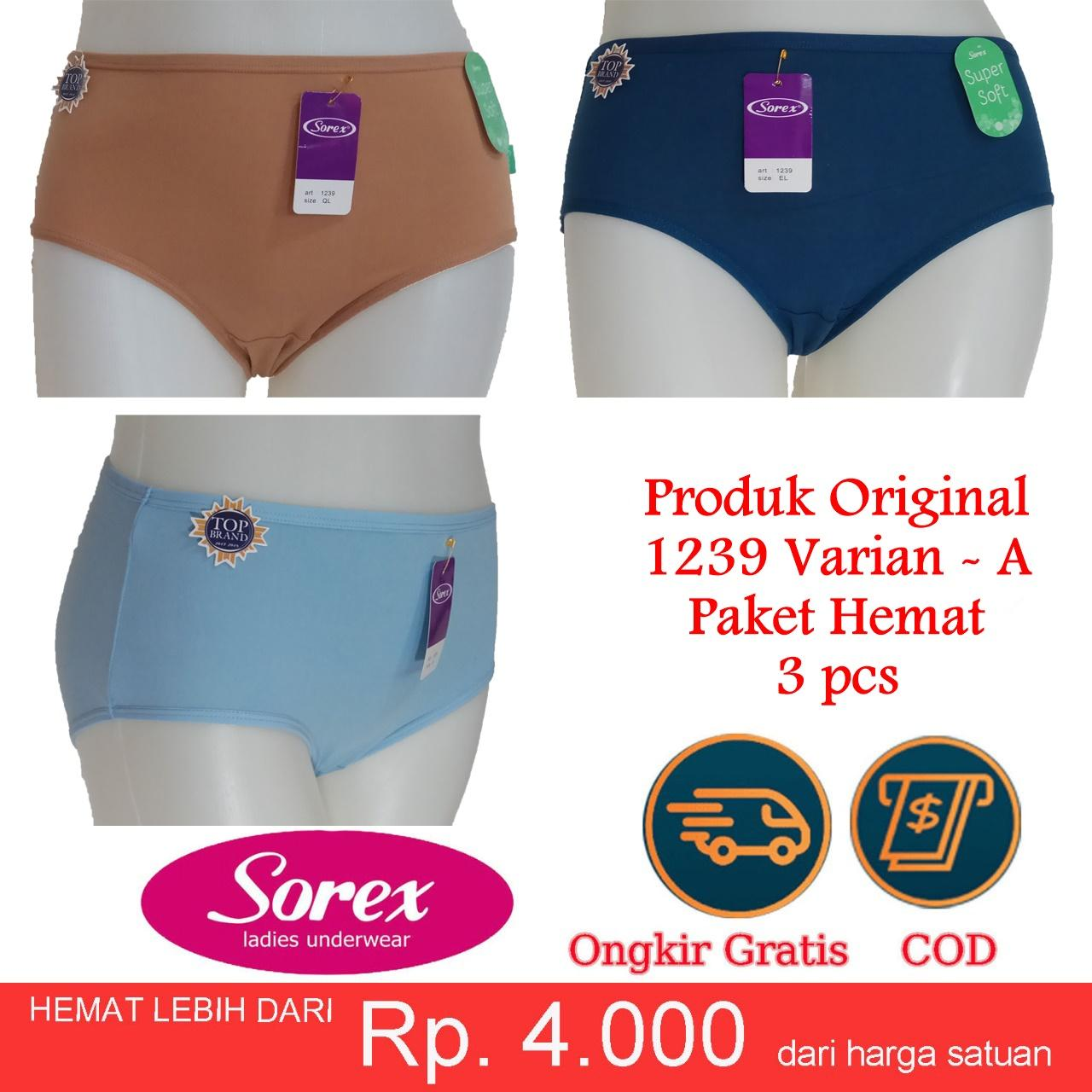 Paket 3 pcs Sorex original Celana Dalam Wanita Model 1239   UnderWare Super  Soft CD eb62e026d3