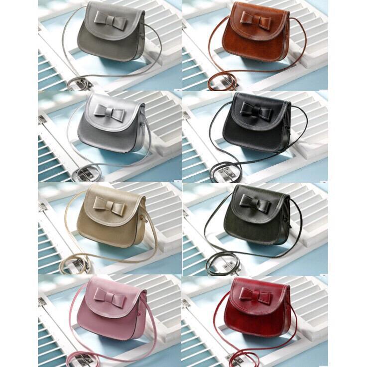 OSM - T033 Tas Selempang Mini   Sling Bag Ribbon   Tas Wanita   Tas Import 1c9d95c43d