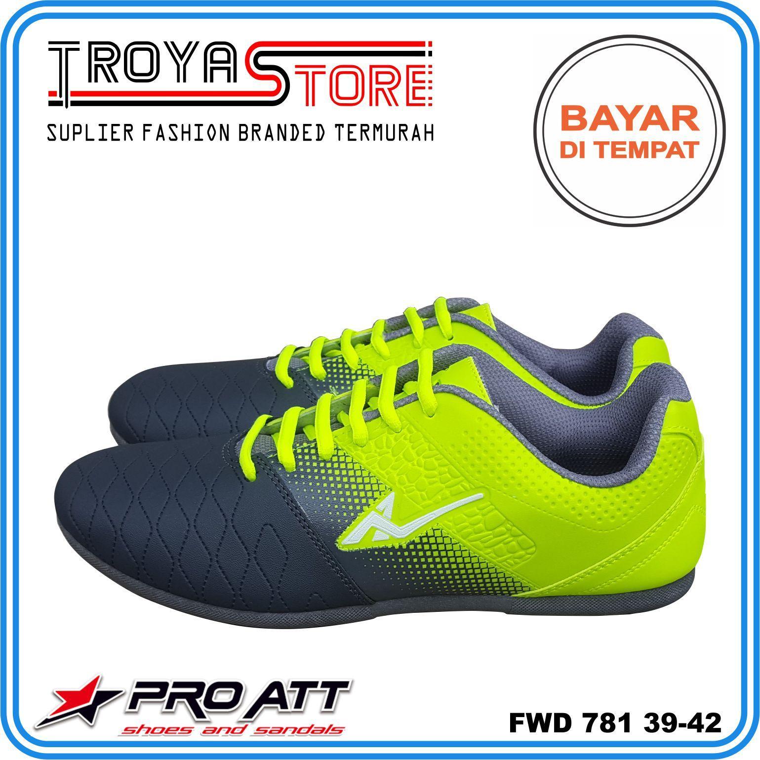 TROYASTORE - PRO ATT Sepatu Futsal Pria FWD781 Original Hijau Biru Abu Orange / Sepatu Bola