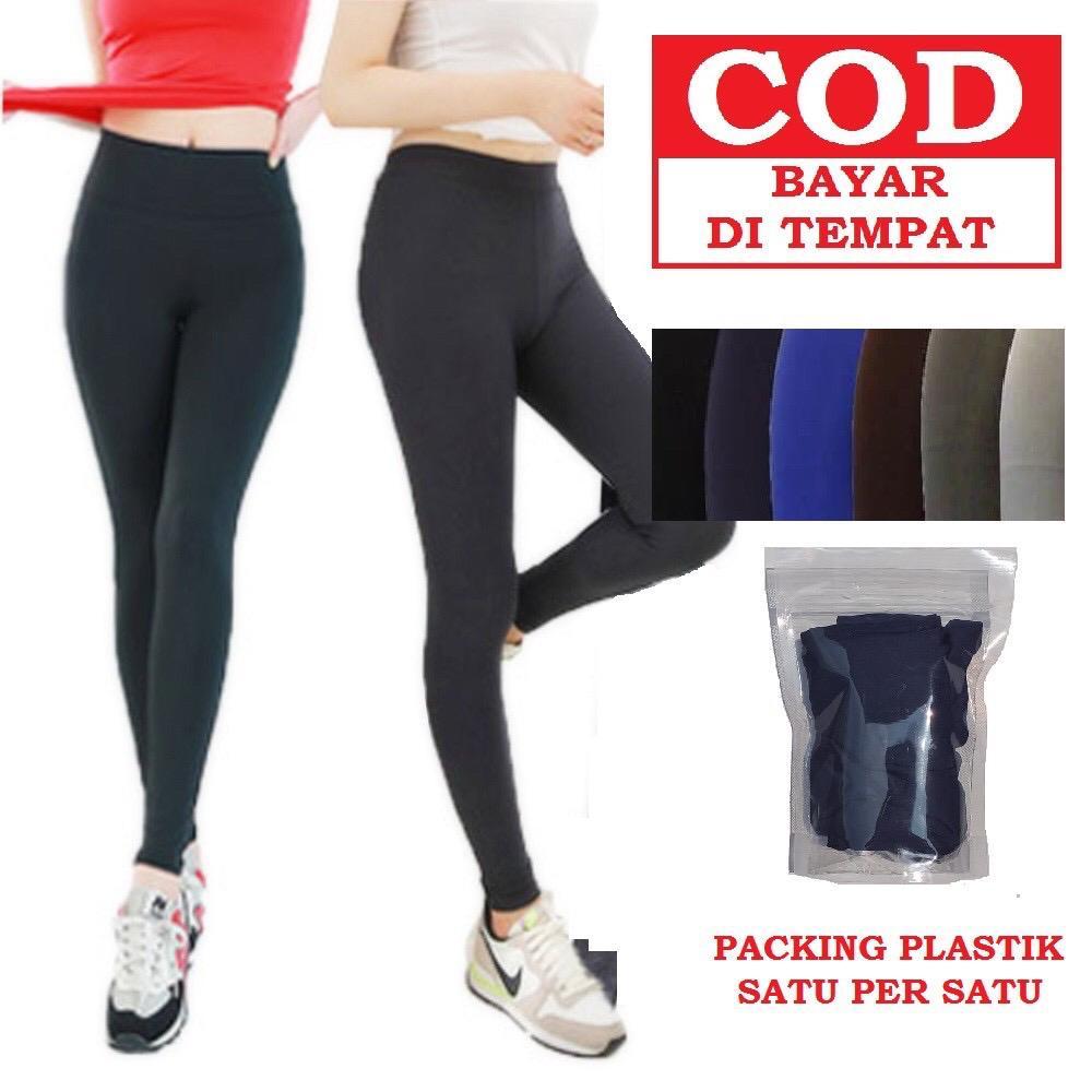 Legging Panjang Spandex Licin Legging Panjang Standar Spandex Adem Celana Legging Polos Wanita Lazada Indonesia