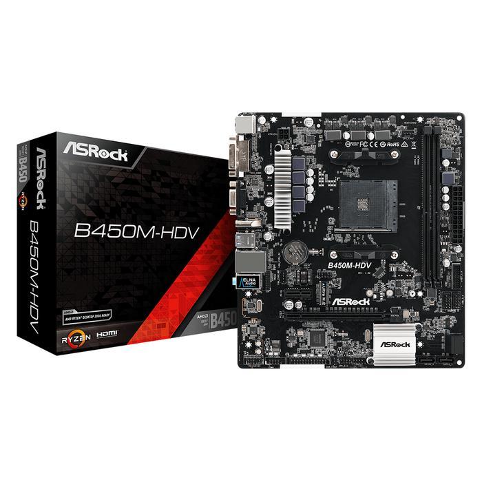Motherboard ASrock B450M-HDV AMD AM4