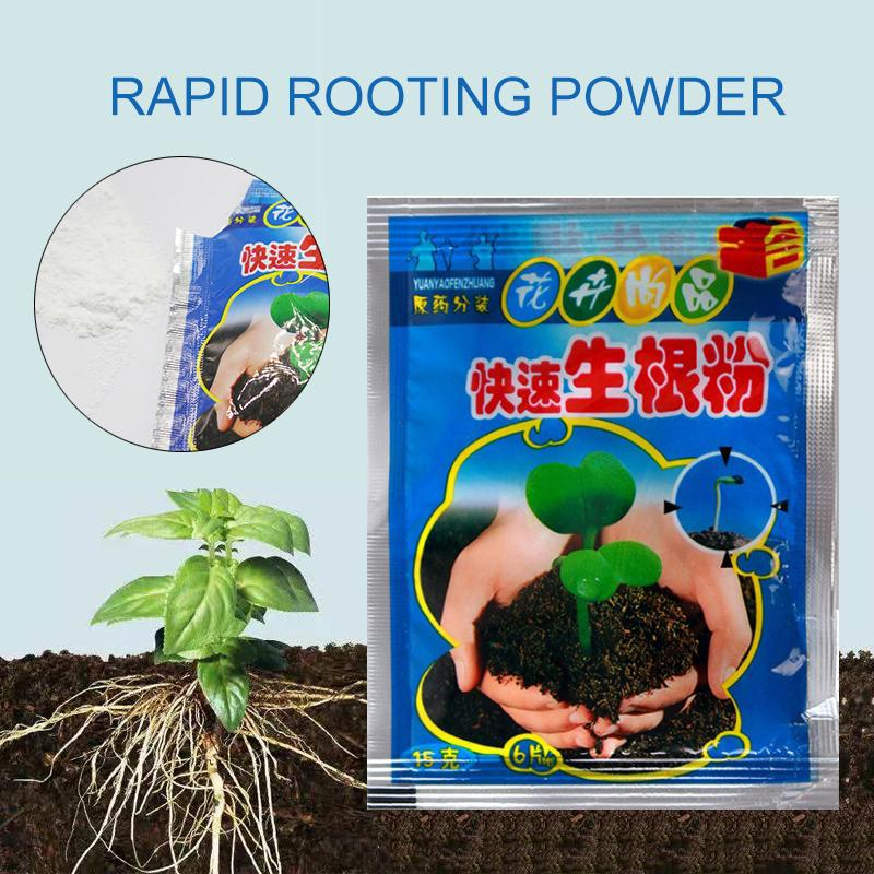 jomoo store 10pcs Fast Rooting Powder Bonsai Plant Growth Regulator Hormone Growing Root Seedling Germination Cutting Seed Aid Fertilizer