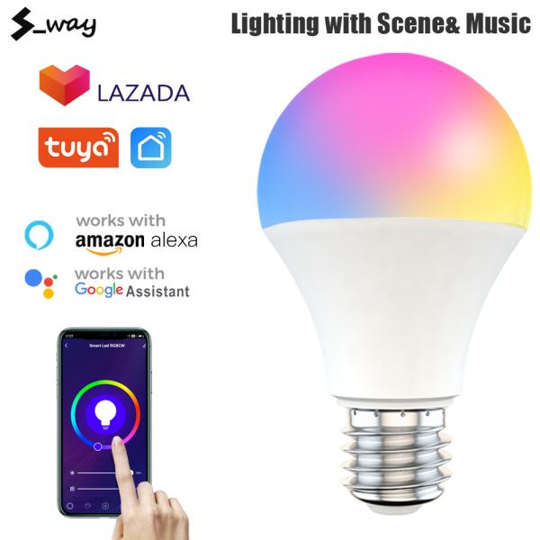 Bóng Đèn Thông Minh S-way Tuya 9W WiFi Đèn Ma Thuật RGBCW Bóng Đèn LED WiFi E27 B22 Có Thể Điều Chỉnh Độ Sáng Với Amazon Alexa Google Smart Home