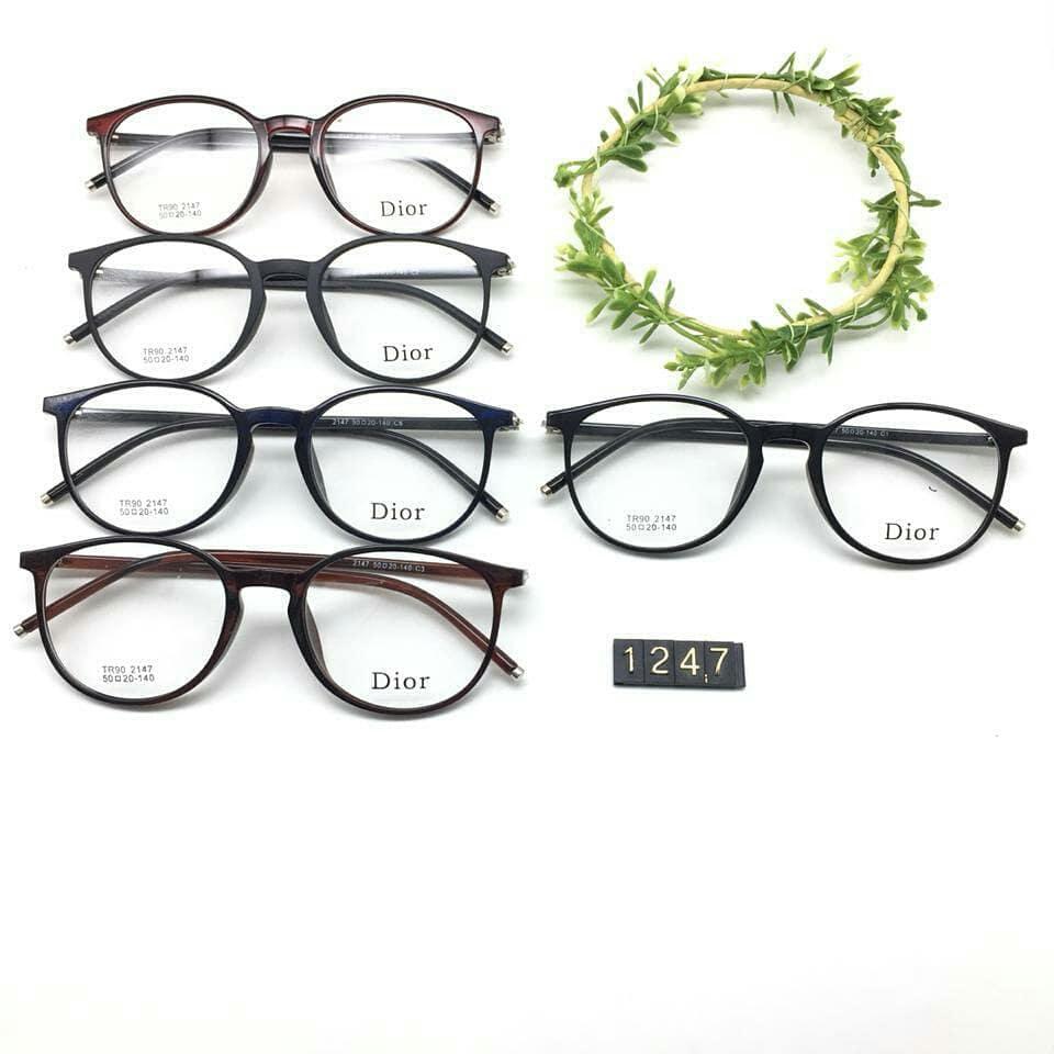 kacamata DIOR bundar 1275 untuk minus atau plus lensa terbaik anti radiasi  dan sinar UV ef8cd80415