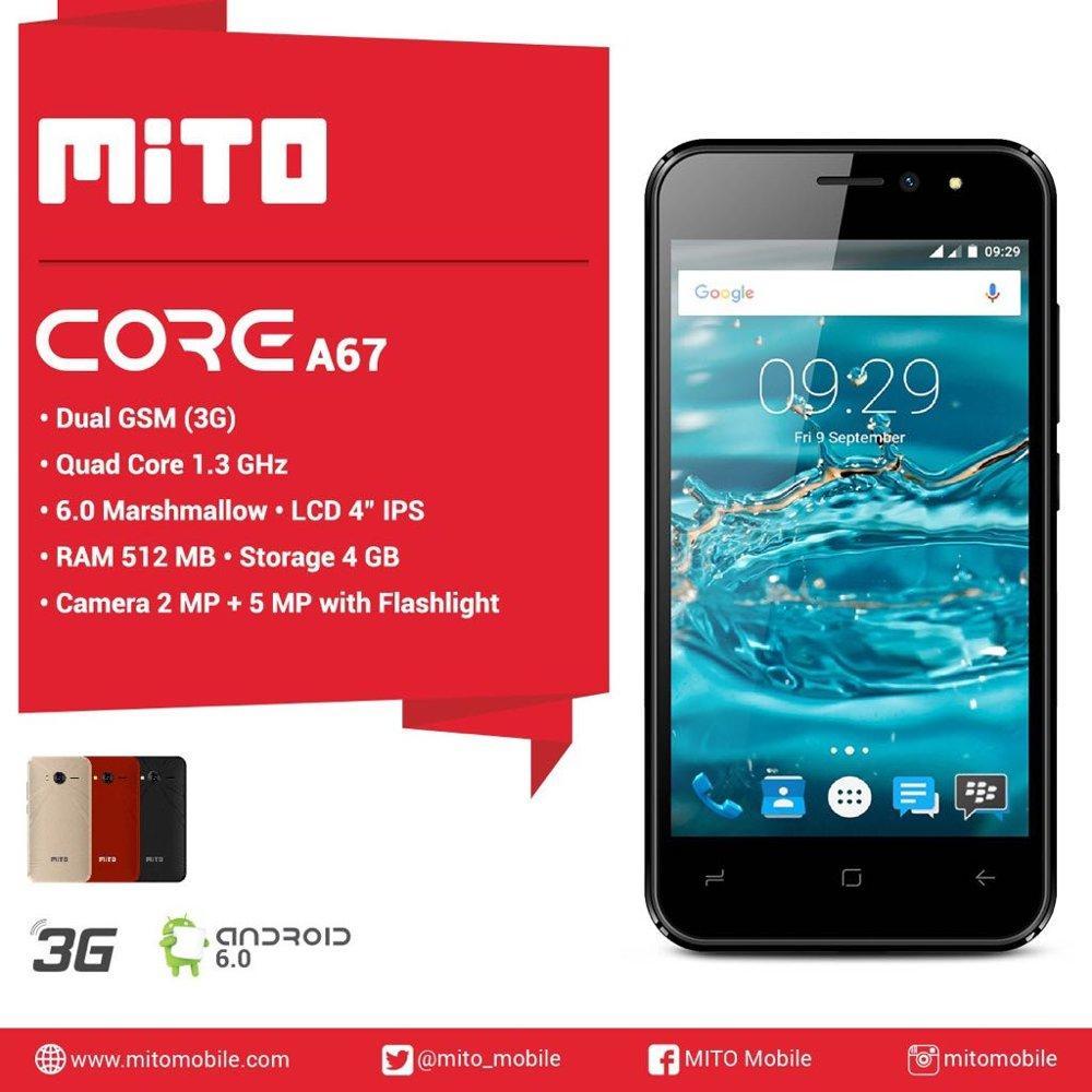 MITO A67 RAM 512MB ROM 4GB - ANDROID - bluetooth - dual sim - Radio FM / Hp unik / hp murah