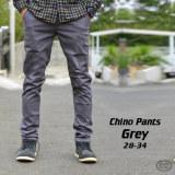 Toko Celana Chino Pria Abu Slimfit Grey Chinopants Katun Melar Impresif Termurah Di Jawa Barat