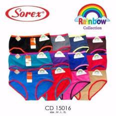 Rp 15.800. Celana Dalam / CD Wanita Perempuan Pelangi Rainbow Katun Lembut ...