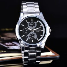 Promo Cenozo Jam Tangan Pria Body Silver Black Dial Stainless Stell Band Cnz Rt 8102G Sb Black Stainless Stell Band Di Indonesia