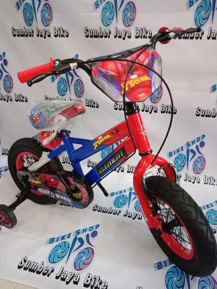 Sepeda BMX 12 INCH ELEMENT SPIDERMAN NEW !!! GOOD QUALITY