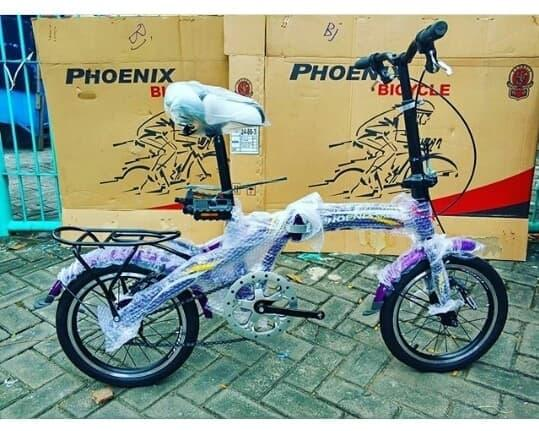 DISKON / BEST PRODUCT /   Original Sepeda Anak Lipat Phoenix 16 Inchi Bkn BMX United Polygon Mu