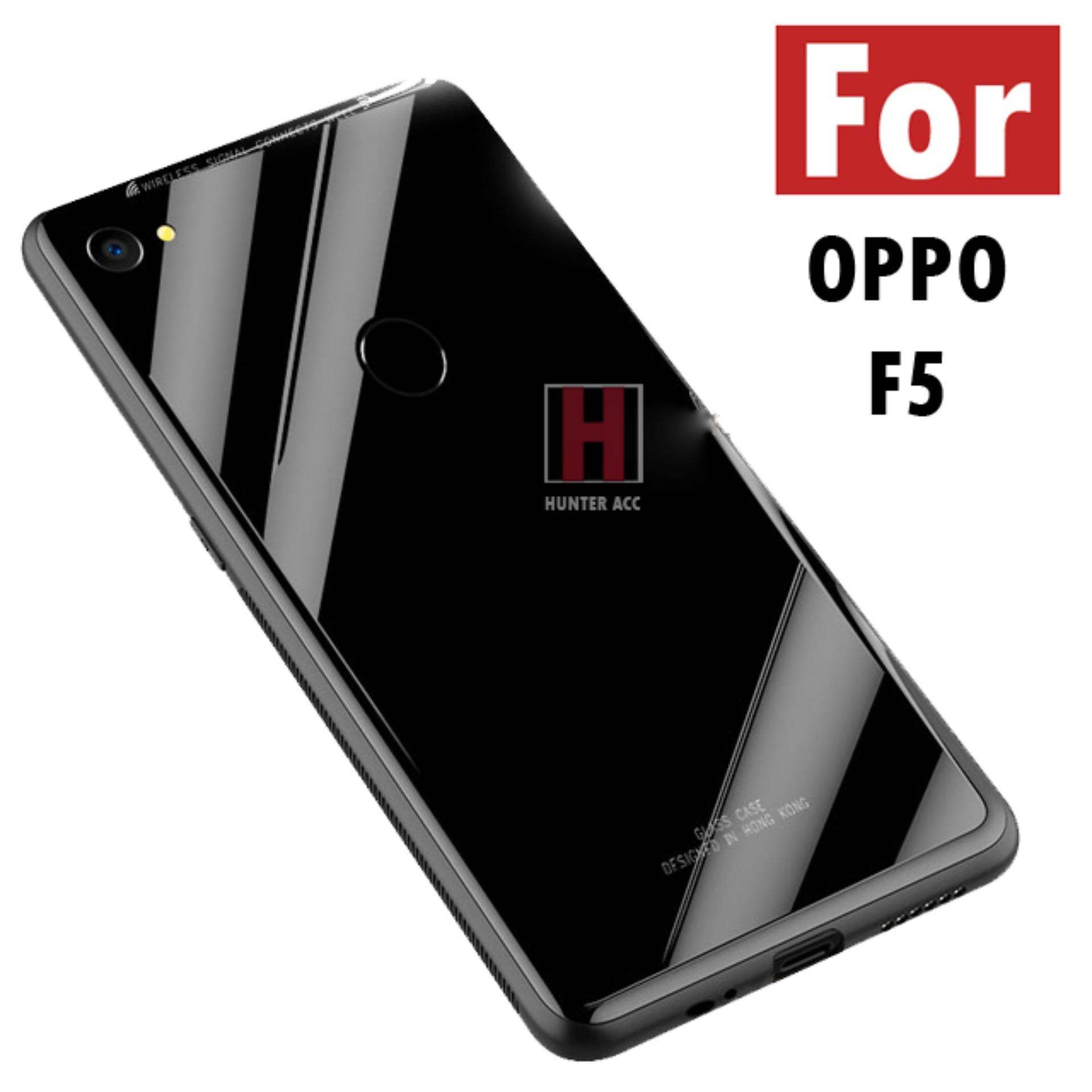 Hunter Acc Case Oppo F5 Luxury Tempered Glass Premium Case