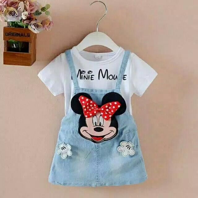 Fortune Fashion Jumpsuit Mini Mouse Hand / Jumpsuit Anak Perempuan By Fortune Fashion.
