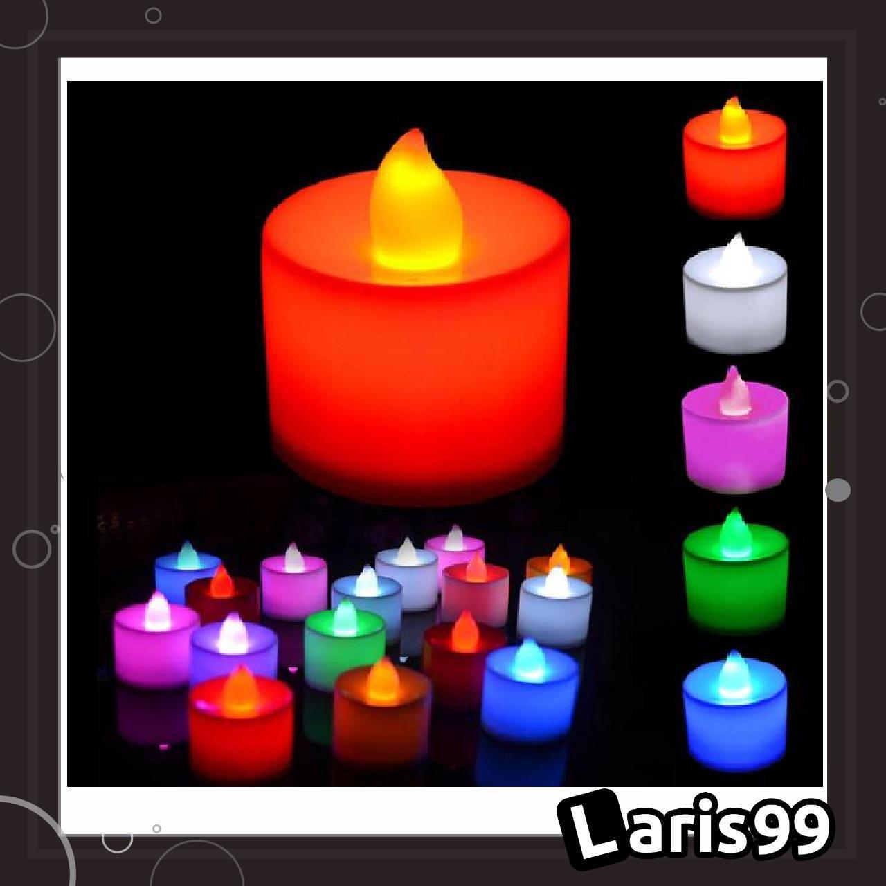 Laris99 Lle Lilin Led / Lampu Bentuk Lilin Dengan Baterai / Lampu Lilin Elektrik Led Plastic Flameless Candle Light By Laris99.