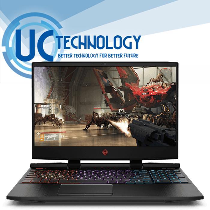 New HP OMEN GAMING 15-dc1077TX - i5-9300H - RAM 8GB - HDD 1TB - SSD 256GB - 15.6  FHD 144Hz - WIN10 - Gratis Backpack Omen - Garansi Resmi - Laptop Gaming Terbaru