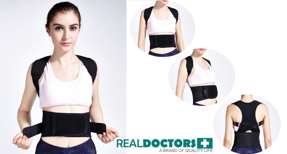 T2COM Promo Alat Real Doctors Korset Penegak Punggung Kesehatan Posture Support Brace (Bayar Ditempat )