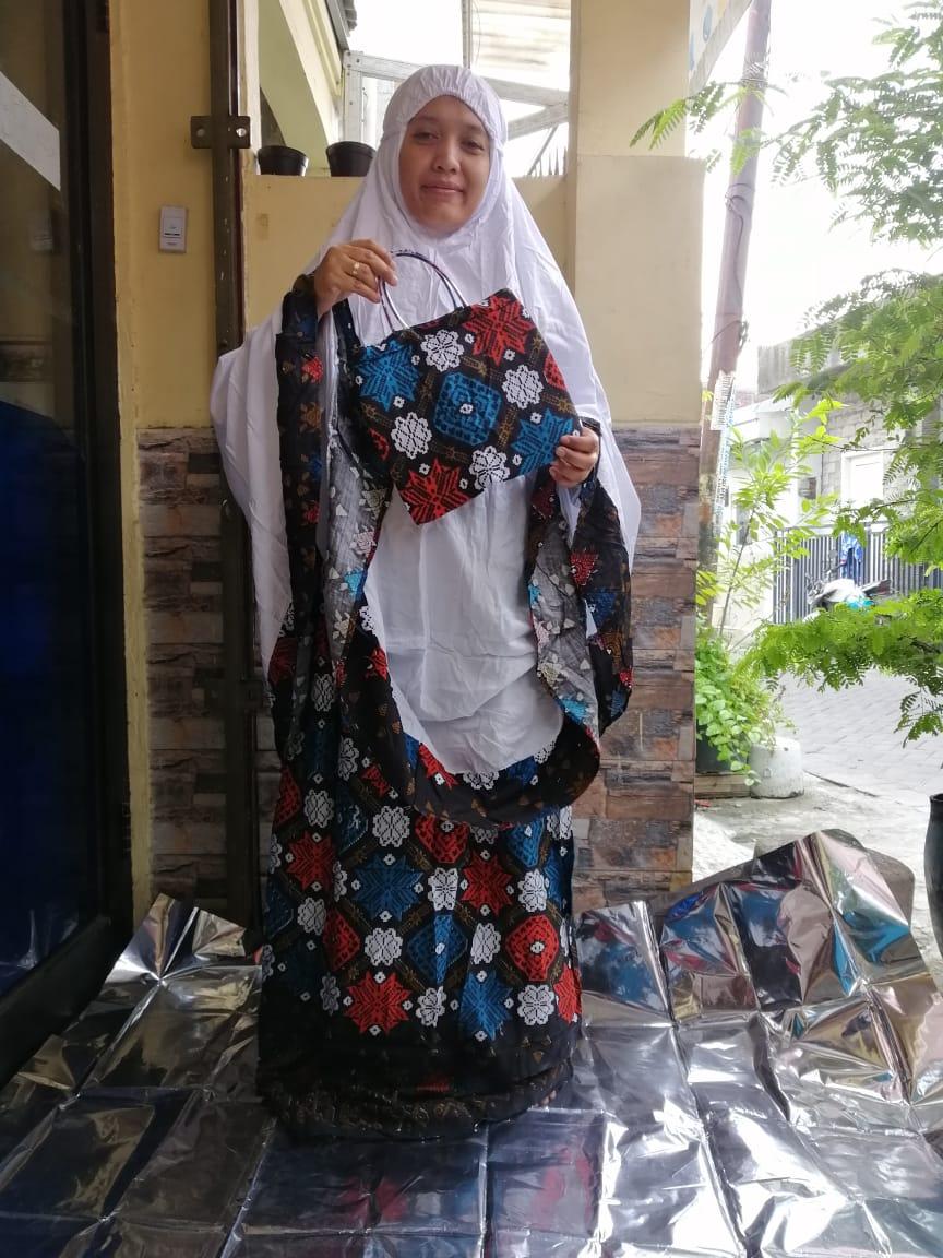 Mukena Bali Dewasa Jumbo Motif Songket Minangkabau Bahan Rayon Super Adem