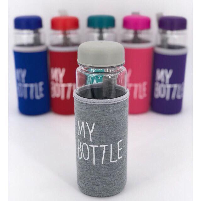 OSM - Bo242 My Bottle Bening Sarung Busa 12 Warna / Ada Logo BPA Free /