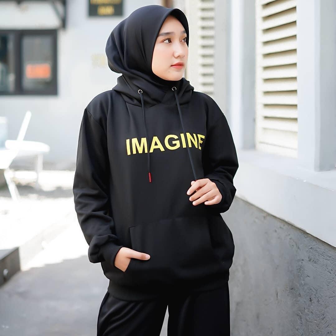 Imagine Hoodie Hoodie Oversize Wanita Xxl Hoodie Wanita Korean Style Ootd Hijab Style Remaja Hoodie Oversize Korean Style Ootd Korean Style Murah Sweater Wanita Model Terbaru 2020 Baju Kaos Wanita Terbaru 2020