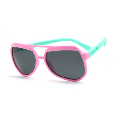 CHASING Light Lembut Bingkai Kid Sunglasses Blue Leg Anak Retro Kacamata Matahari Outdoor Anti-UV CS11892P (pink)-Intl