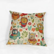 Mobil Murah Kursi Linen Cushion, Nordic Vintage OUTDOOR Bantal Kursi Dekorasi Rumah untuk Sofa, Burung Lucu Bantal Anti-decubitus