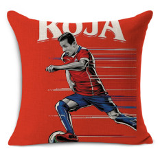 Cheap car seat linen cushion Nordic Vintage World Cup soccer star outdoor chair cushions home decor for sofas pillow MYJ-1623