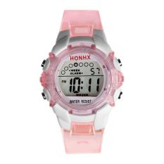 Spesifikasi Anak Boy G*rl Siswa Kasual Sport Digital Wrist Watch Pink