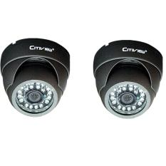 Citiview CCTV CT-SA620-VD Vandalproof IR Dome Camera 600TVL 2Pcs