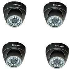 Citiview CCTV CT-SA620-VD Vandalproof IR Dome Camera 600TVL 4Pcs