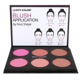 Kualitas City Color Glow Pro Blush Matte Collection Palette Blush On Palette City Color