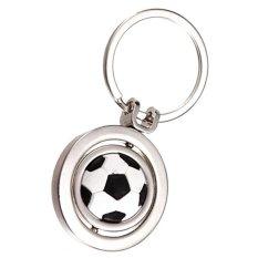 Spesifikasi Cocotina 1 Pc 3D Rotating Football Soccer Kunci Keyring Gantungan Kunci Cincin Keyfob Ball Novelty Hadiah Silver Yang Bagus