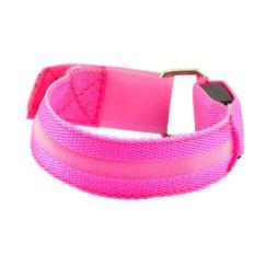 Situs Review Cocotina Olahraga Keselamatan Bersepeda Led Reflektif Belt Strap Kancing Bungkus Lengan Band Pink