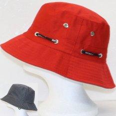 Jual Cepat Cocotina Unisex Bucket Hat Boonie Hunting Fishing Outdoor Cap Men Womensummer Sun Hats Red