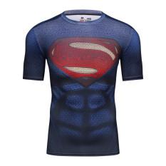 Daftar Harga Cody Lundin Pria Fashion 3D T Shirt Superhero Batman Aliansi Shirt Cepat Kering Kebugaran Compressed Dry Kaos International Cody Lundin