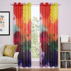Beli Colorful Eropa Style Sheer Window Screening Curtain Untuk Anak Anak 140X220 Cm Kredit