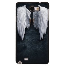 Beli Cool Sudut Pola Sayap Samsung Galaxy Note 2 Case Untuk Samsung Galaxy Note 2 Hitam Pakai Kartu Kredit