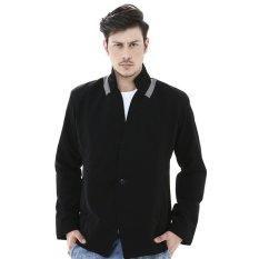 Model Crows Denim Gant Casual Twill Blazer Hitam Terbaru