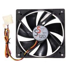 CTO Kecil 12X12X2.5 Cm Cooling Fan 12 V 3 Pin PC Komputer CPU Kipas Kasus Tenang Hitam