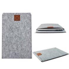 CTO Wol Felt Laptop Cover Case untuk MacBook Pro Air 13.3 (Abu-abu Muda)