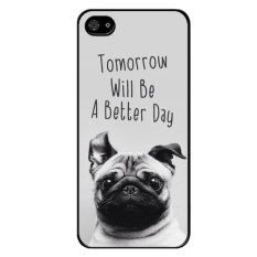 Beli Cute Dog Pattern Phone Case For Iphone 5C Black Online Tiongkok