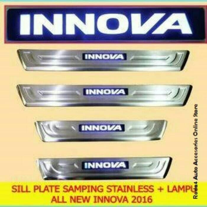 Sillplate Sill Plate Sillplate Samping Stainless Lampu Led All New Innova Reborn