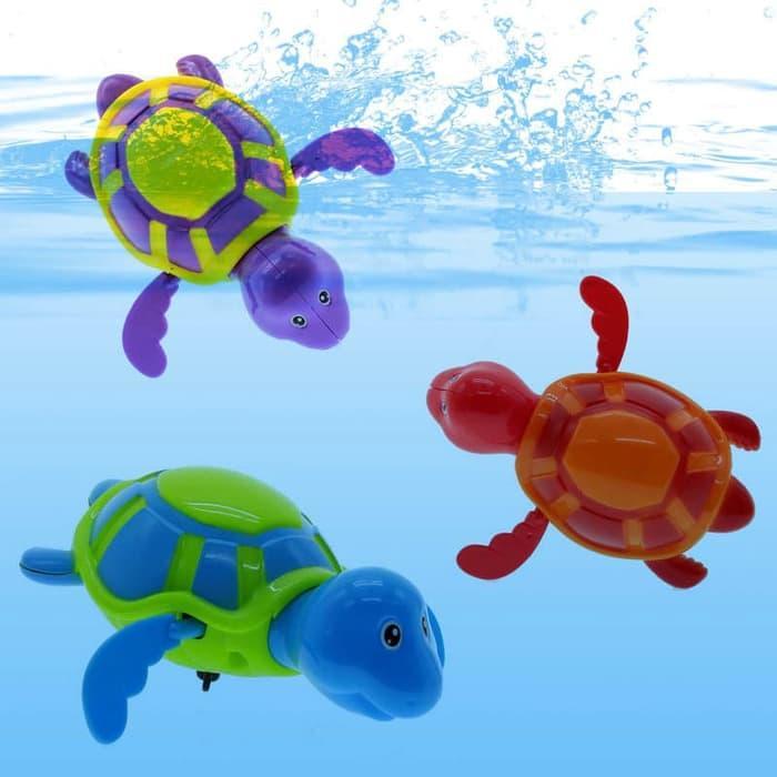 New Baby Kid Toddler Swim Turtle Chain Clockwork Bathing Bath Toys - Mainan Mandi Anak / Berenang - Lucu By Toko-Ben.