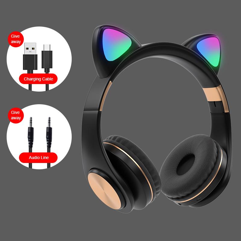 Perkoetfg Tai Nghe Không Dây Bluetooth 5.0 Cho Trẻ Em Bé Gái Mới Tai Nghe Nhét Tai Bluetooth Tai Nghe Âm Thanh Nổi Có Mic