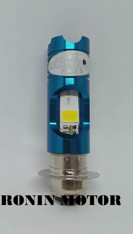 LAMPU DEPAN MOTOR LED H6 RTD M11G + LAMPU SENJA BIRU UNTUK SEMUA BEBEK & MATIC