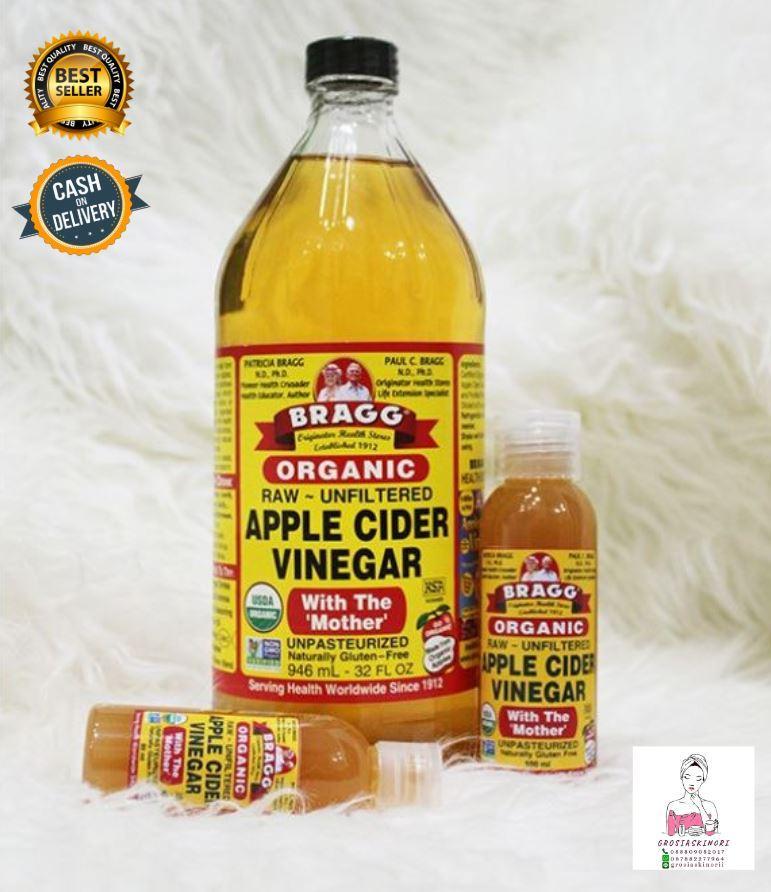 Bragg Apple 60ml Cider Vinegar ( Cuka Apel ) Original - share in jar 1pcs