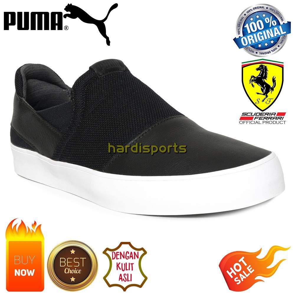 Sepatu Sneaker Pria Puma SF (Scuderia Ferrari) Slip On 306118-01 - Black 1252d71e2