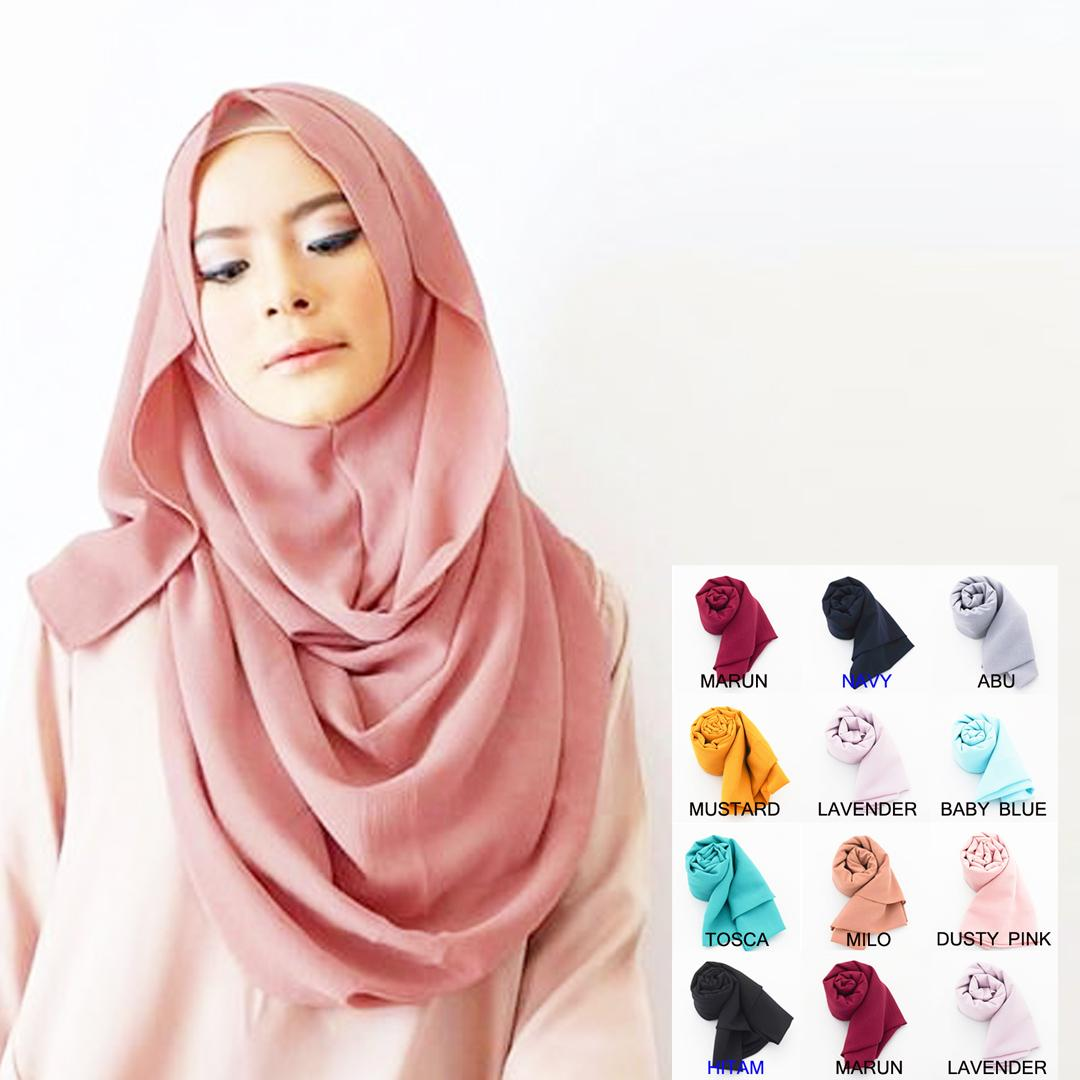 Pashmina Instan Kerudung Instan - Jilbab Instan Kerudung Berkualitas - Hijab Khimar Pastan Azkia