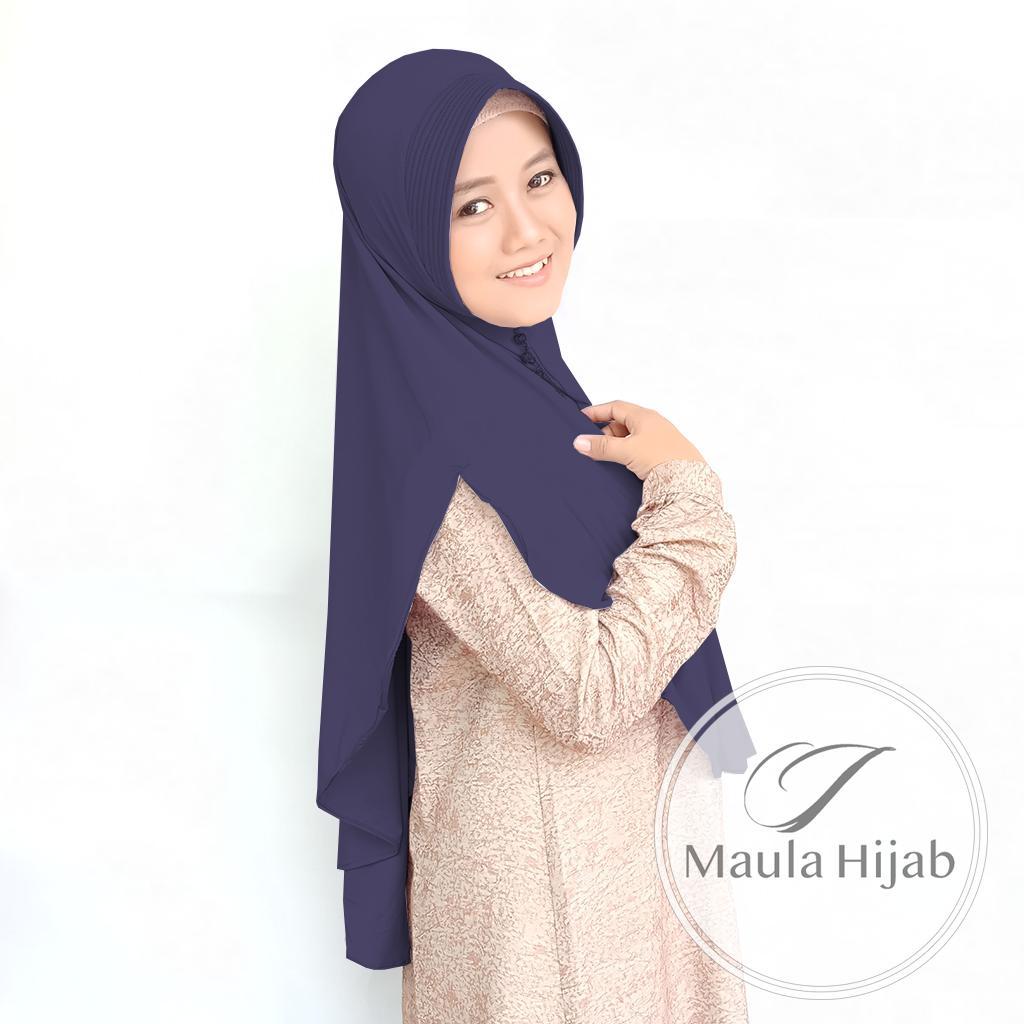 Maula Hijab Kerudung Jilbab Instan Terbaru 2019 Bergo Kekinian Khimar Syari Simple Pet Jersey Rempel Depan Pinguin Terbaru Murah Trend Style Lebaran 2019