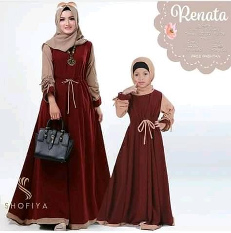 Renata couple Busana Muslim Ibu Dan Anak Gamis Gaun Model Terbaru Dan terlaris Dan Termurah Kualitas Terbaik